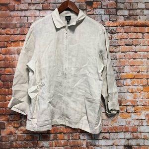 EILEEN FISHER Women's Linen Jacket Size M  # H307